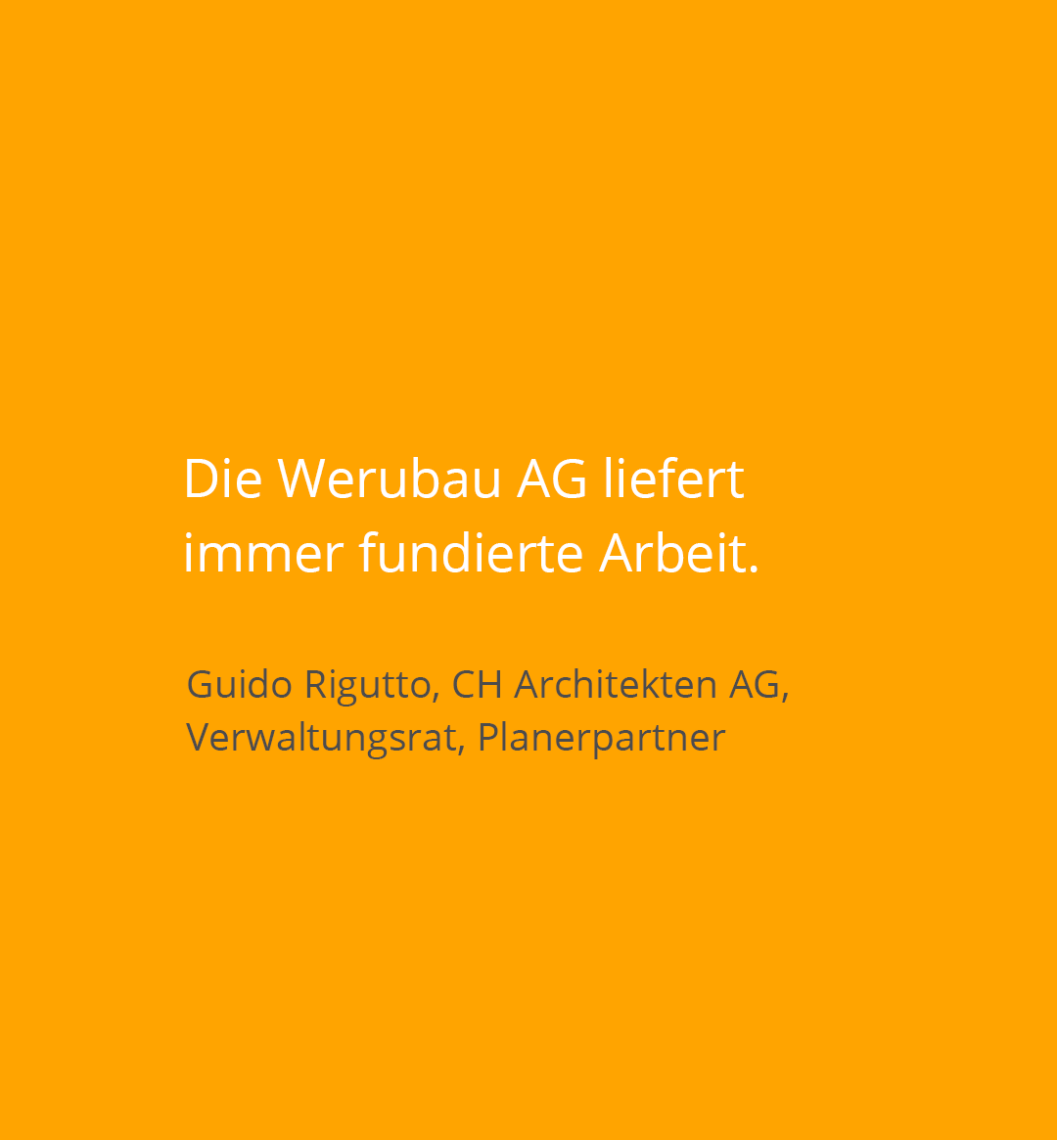 Kundenstatement Architekt Guido Rigutto Planerpartner Wallisellen