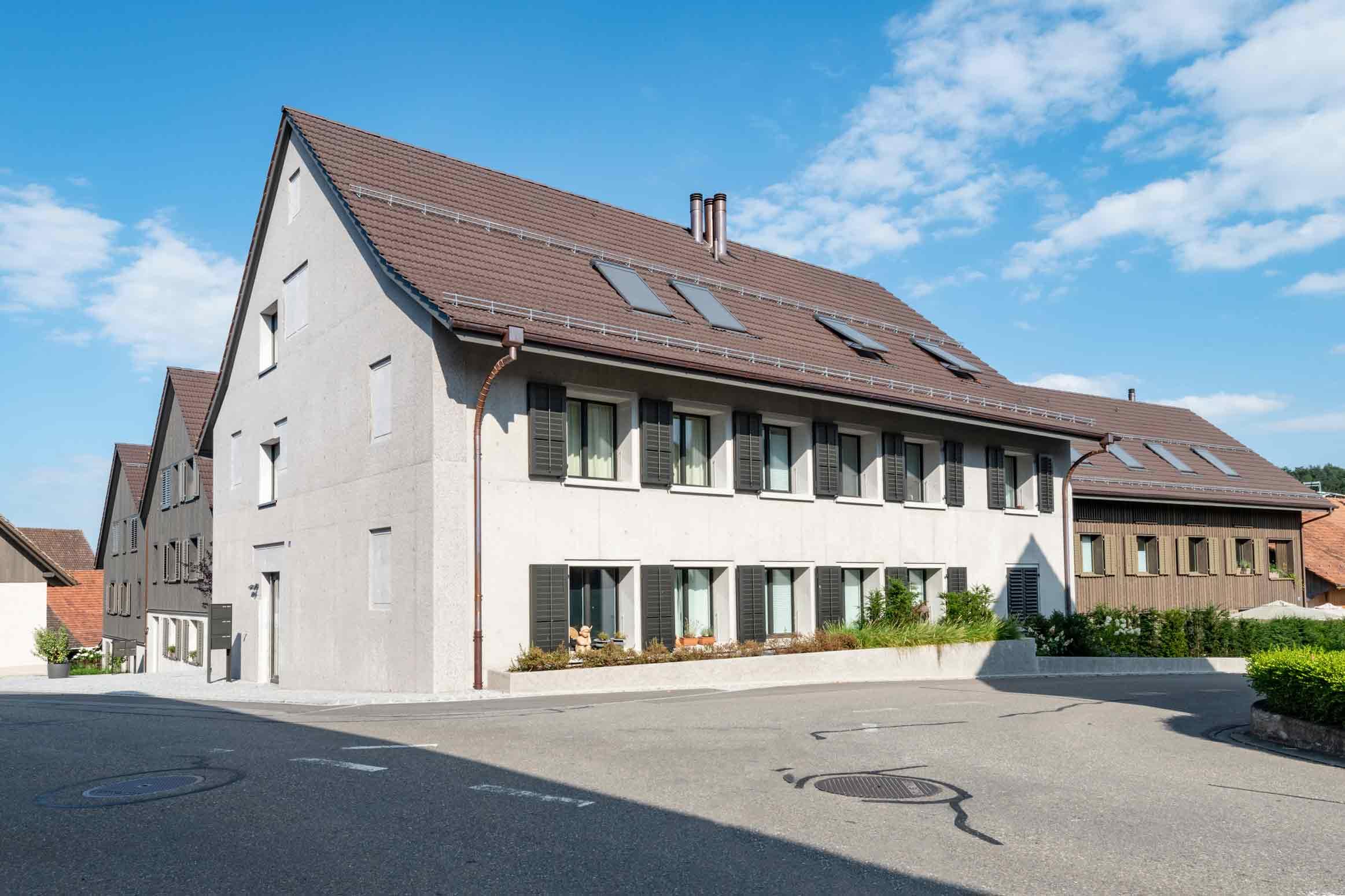 Baumanagement im historischen Weiler Limberg Küsnacht Werubau AG Fassaden