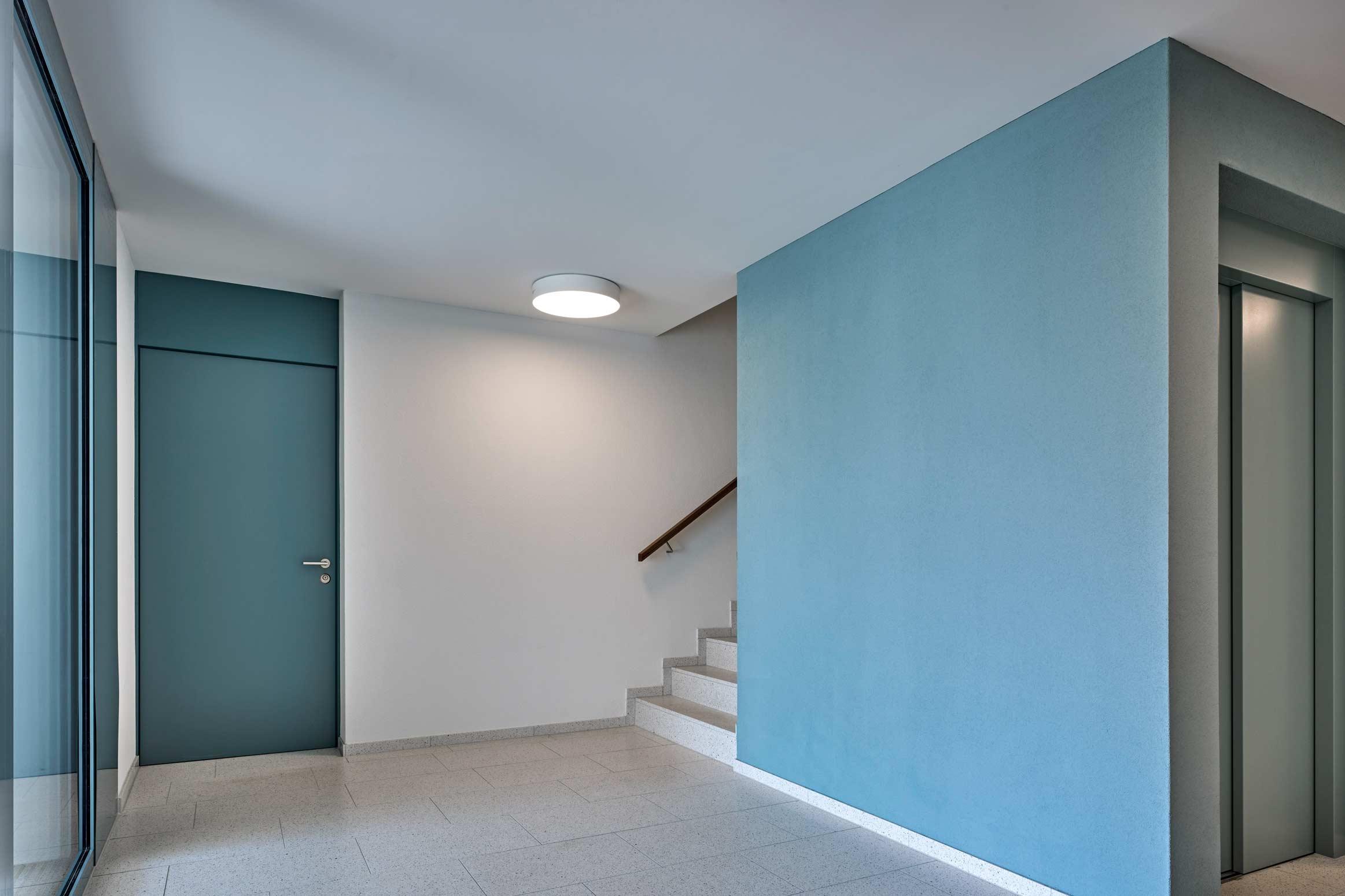Baumanagement Werubau AG Mietwohnungen von CH Frei Architekten Treppenhaus