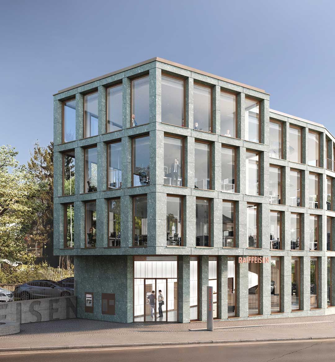 Raiffeisenbank Region Glatt Wallisellen Werubau AG Baumanagement Visulisierung